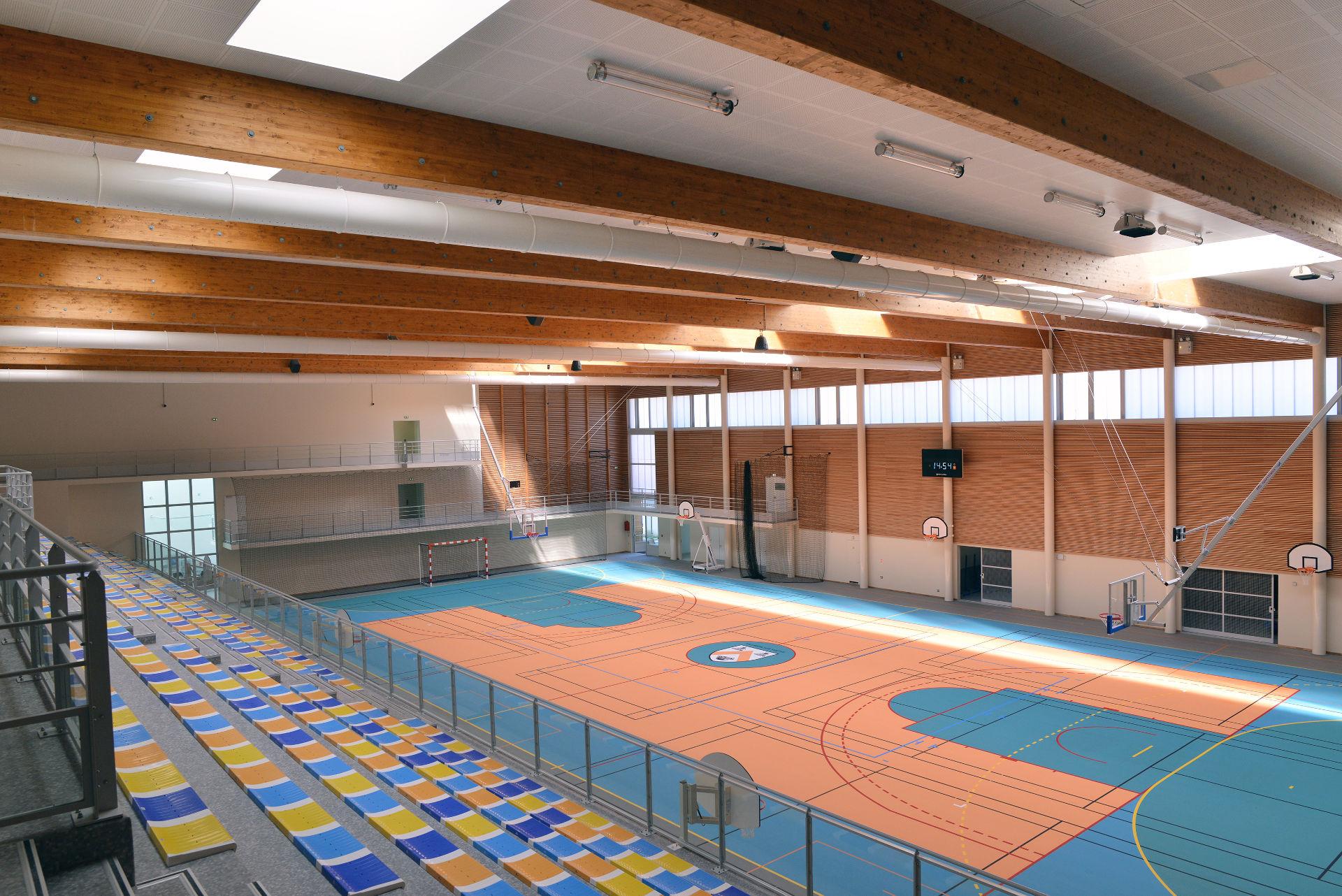 Terrain multisport gymnase Villebon sur Yvette