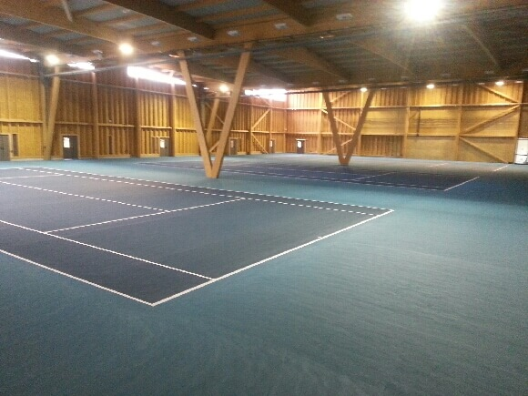 Création de terrain tennis indoor