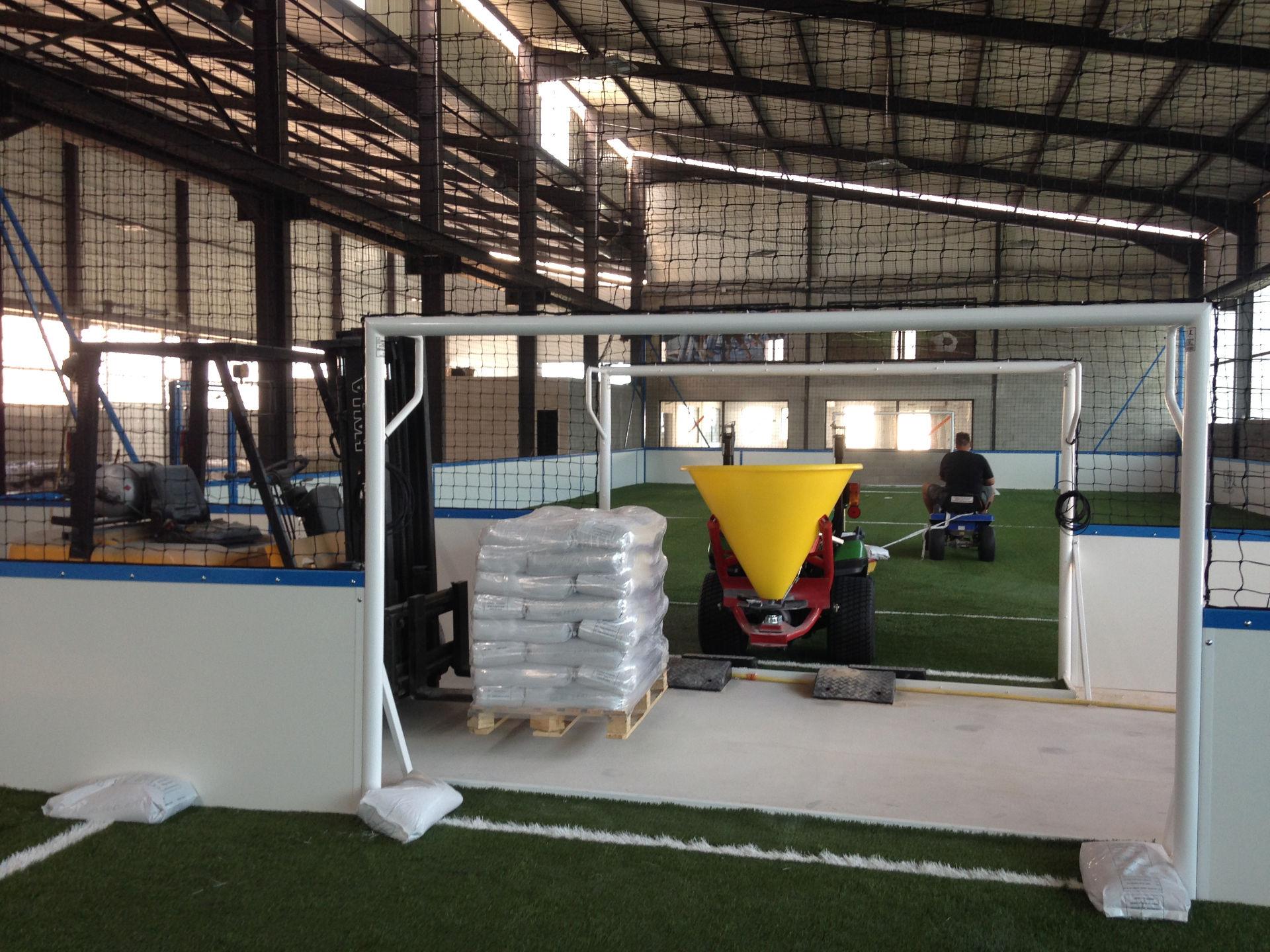 Conception terrain de foot en salle