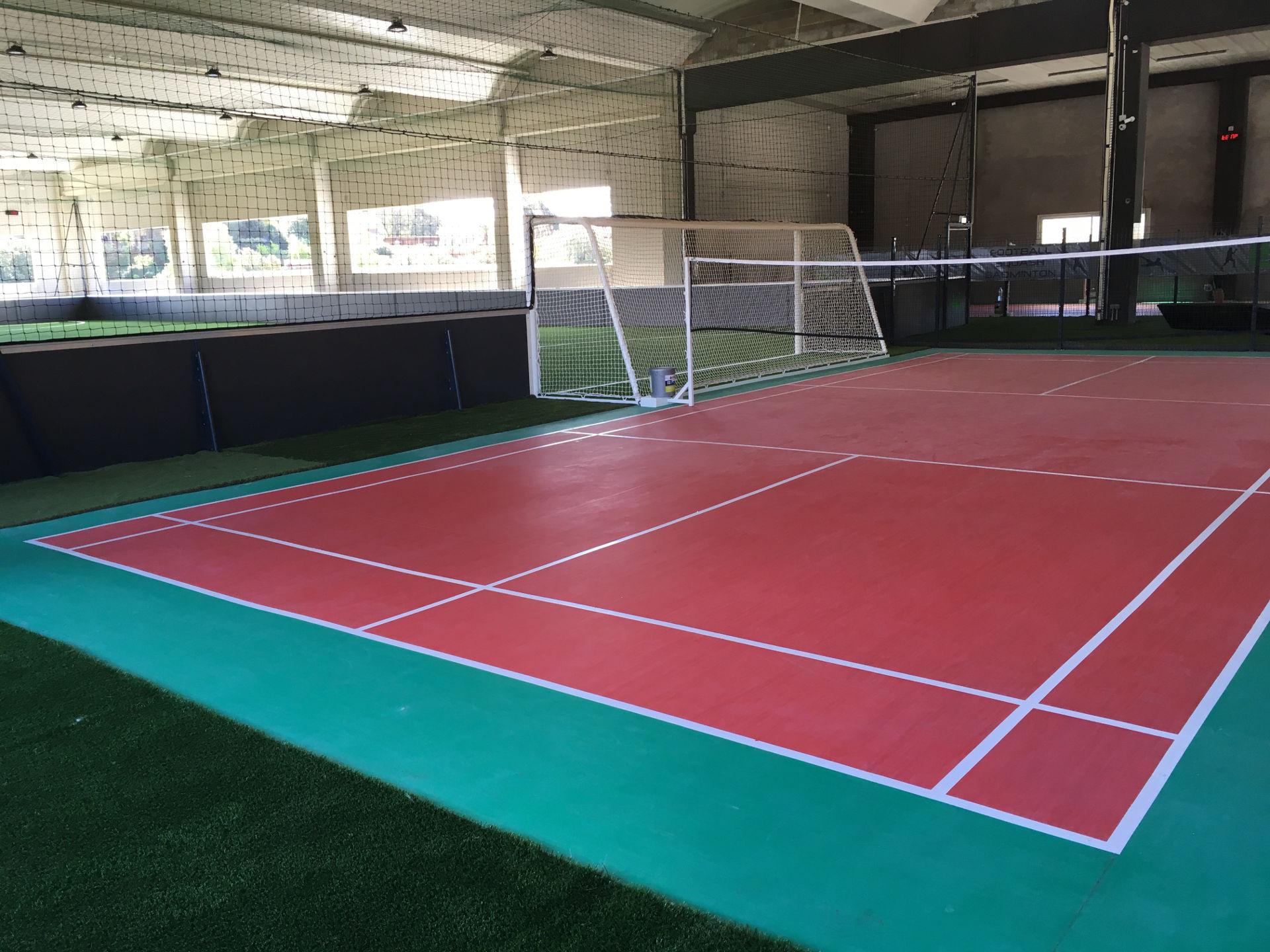 Pose terrain badminton à Ajaccio