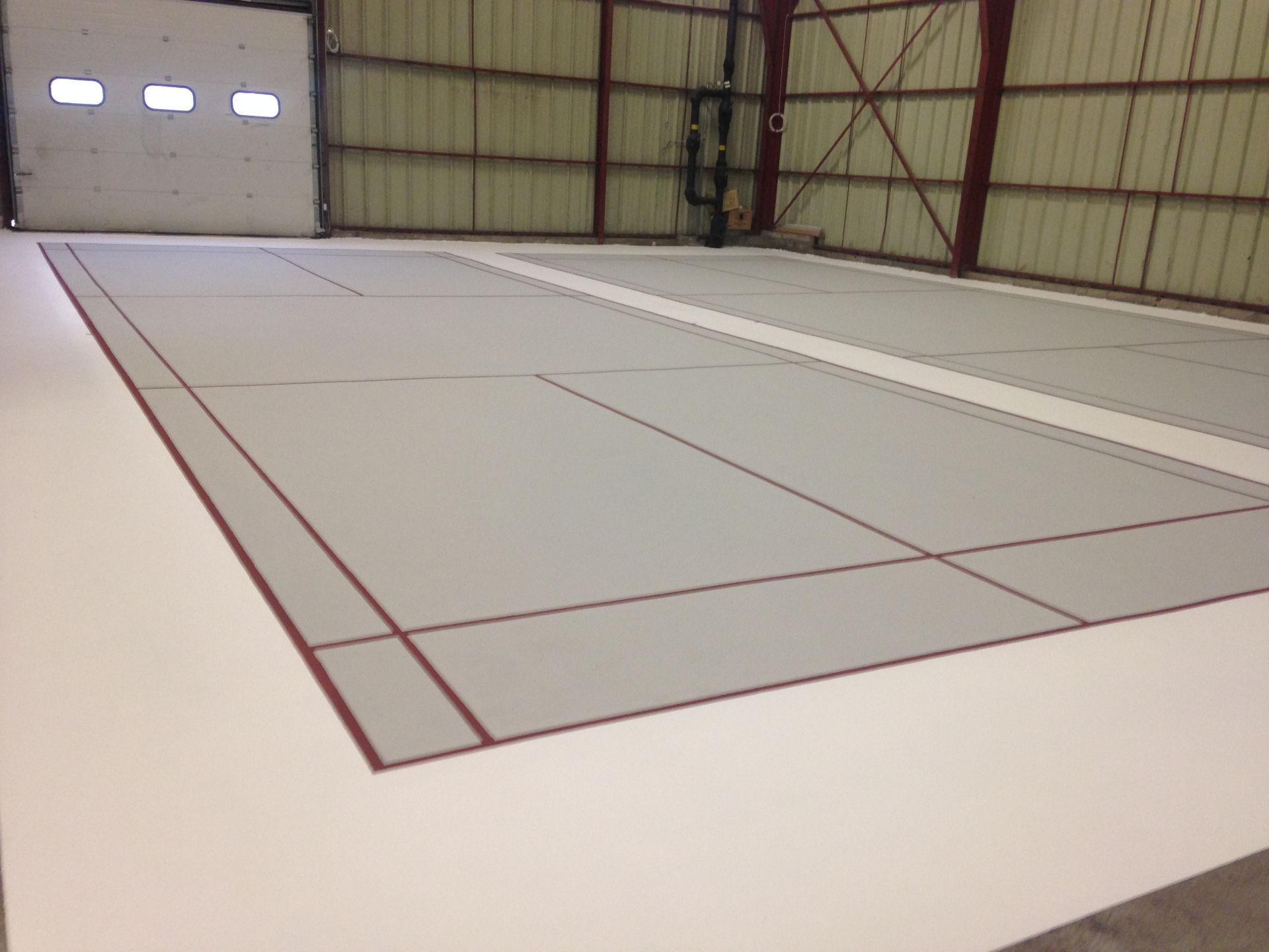 fabrication terrain de badminton Clermont l'Hérault
