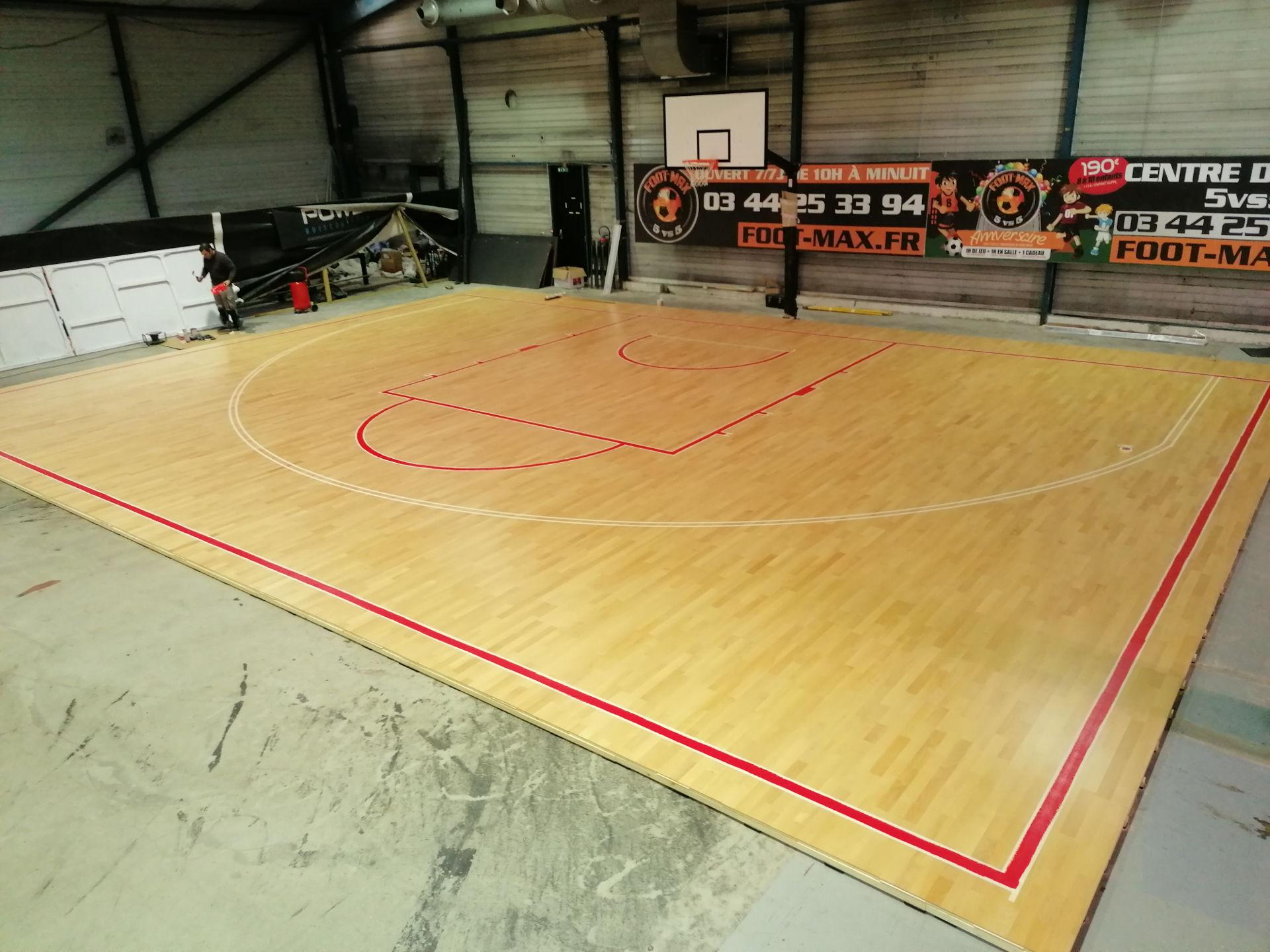 Création terrain Basket Ball 3v3 Saint-Maximin